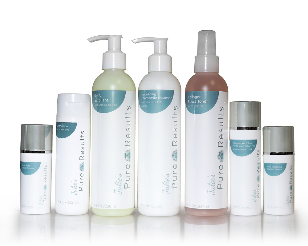 It's been my experience that clients get overwhelmed with all of the products on the market. I don't blame them. It seems like there is a product for every possible issue and some are good and some are not. I created Pure Results because it is straight and simply and all you need. My line is meant for aging skin. Each product is designed to work together to accelerate skin turnover and nourish the new skin with vitamins and botanical ingredients. No perfumes, dyes or parabens.   You'll love the whole regimen. The suncare is 30 SPF and contains Zinc - a healing ingredient.