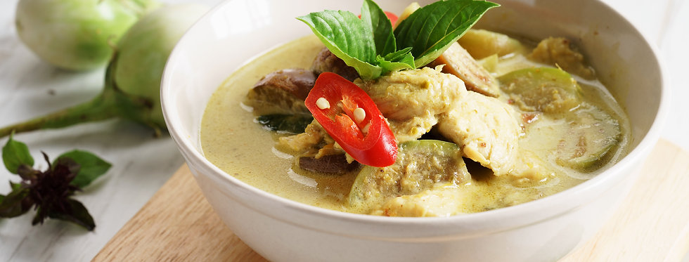 Green Curry Set With Jasmine Rice (Serving for 2)