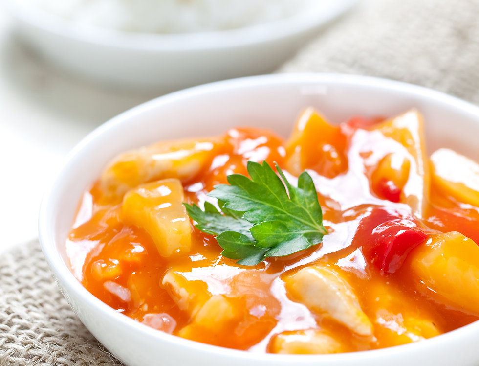 Sweet & Sour Set With Jasmine Rice (Serving for 2)
