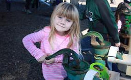 child and water pump