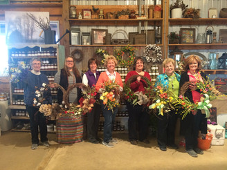 First Wreath Making Class of April