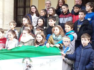 Homenaje a la bandera Andaluza