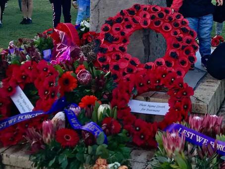 Anzac Day Photos from the Memorial Service