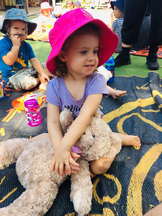 Child with her teddy Bear - Dragonfly's Early Learning Sunshine Coast