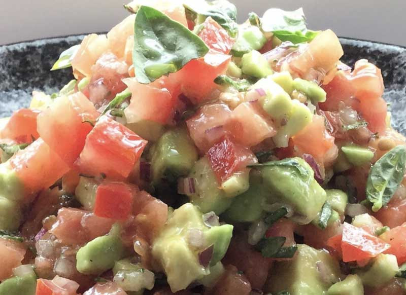 Tomato and Avocado Salsa - Dragonfly's Early Learning