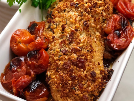 Chicken Parmesan with Roasted Tomatoes