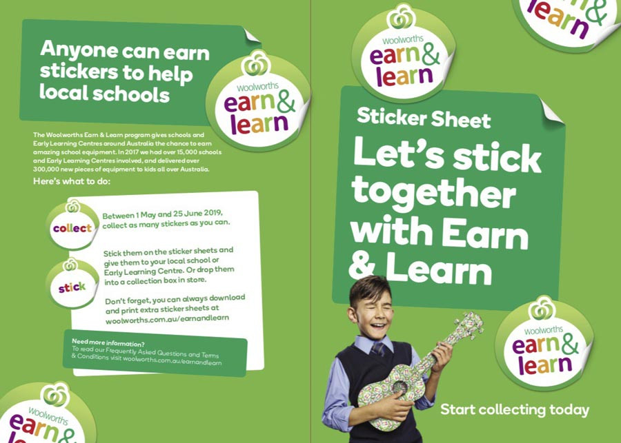 Woolworths Earn and Learn Programme - Dragonfly's Pre-kindy Sunshine Coast