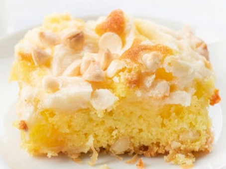 Lemon Earthquake Cake