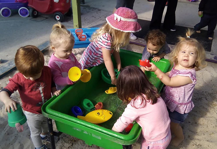 Water play in childcare and kindergarten - Dragonfly's Early Learning