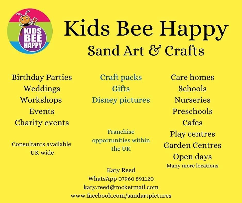 Kids Bee Happy Sand Art