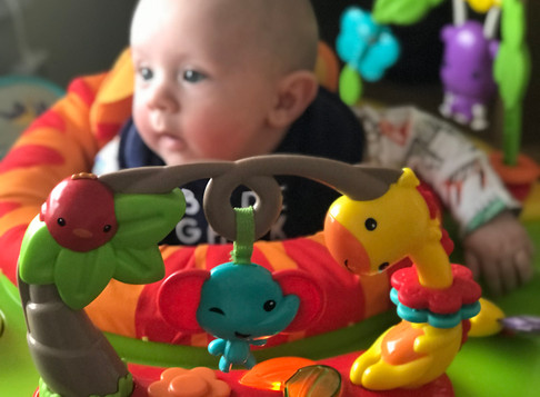 JUMPING FOR JOY WITH THE FISHER PRICE JUMPEROO