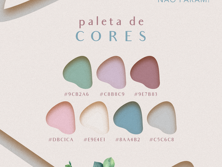 Nova paleta de cores - Identidade Visual