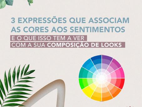 Expressões que associam as cores aos sentimentos