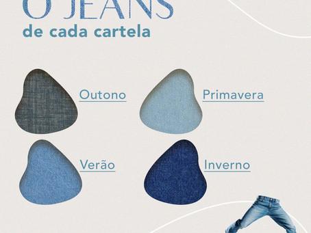 O jeans de cada cartela
