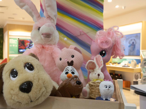 Joy of giving soft toys