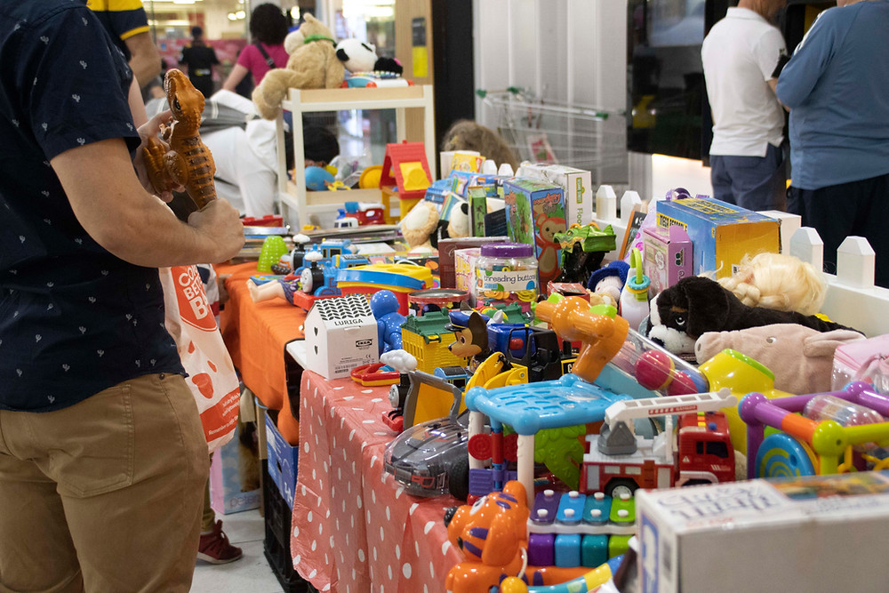 Joy of Giving toy swap day