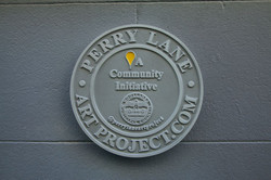 Perry Lane Art Project plaque