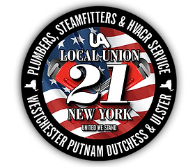 plumbers and steamfitters local 21 logo.