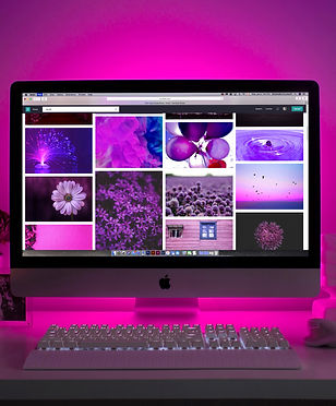 Canva - Silver Imac Displaying Collage P