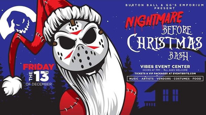My next event! Come join me and celebrate the nightmare before Christmas and Friday the 13th.