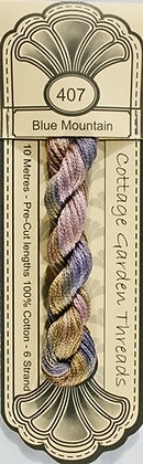 Cottage Garden Threads Blue Border Family 407 - 413