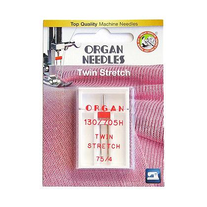 Organ Twin Stretch 11/75 Needle