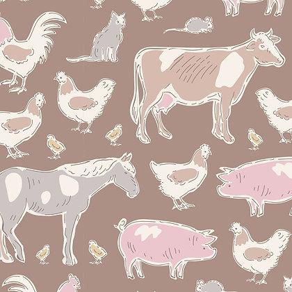 Tilda Tiny Farm - Animals Brown