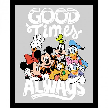 Mickey and Minnie and friends (panel)