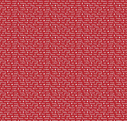 Sweet Orchard Text Red
