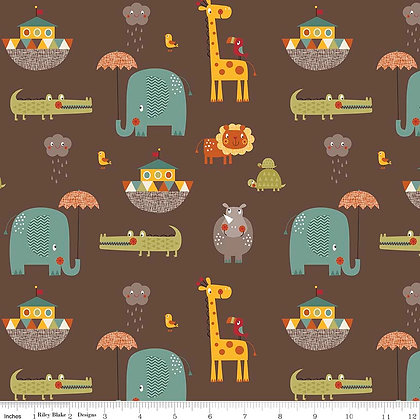 Giraffe Crossing Brown