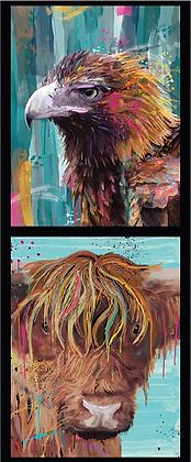 Devonstone Karin Roberts Collection | 2 Block Eagle Cow Panel