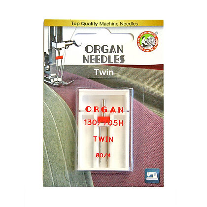 Organ Twin 12/80 4mm Needle
