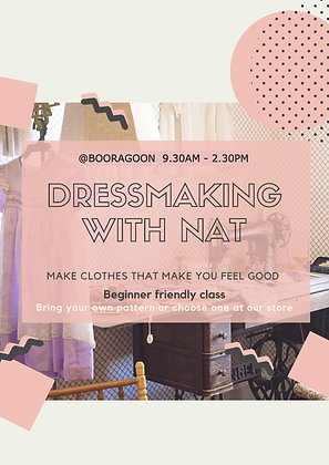 Dressmaking with Nat - Monday 10/MAY/2021