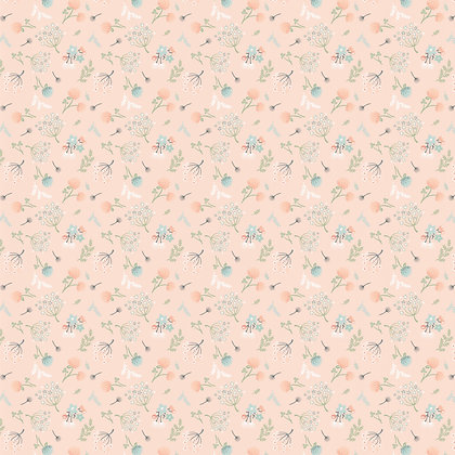 Woodland Floral Peach | Woodland Songbirds Collection
