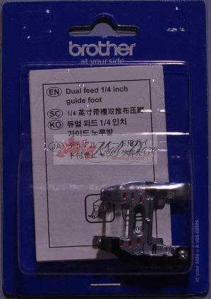 "Brother Duel Feed 1/4"" Foot with Guide"