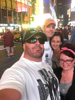 Gunner with wife Maria and Billy Usher and his wife Kristy in NYC