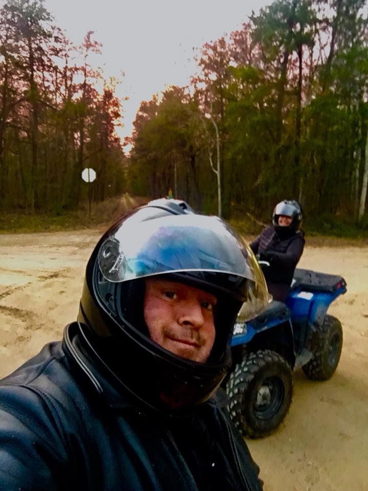 Gunner Four-Wheeling with his Wife Maria