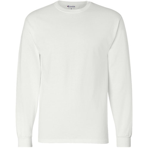 ITEM# LS02 Custom Line White Long Sleeve T-Shirt