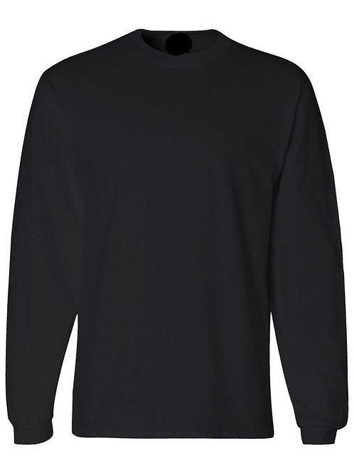 ITEM# LS01 Custom Line Black Long Sleeve T-Shirt