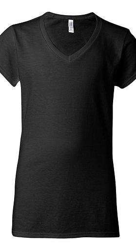 #L0001 -- LADIES CUT T-SHIRT (with Design # 1)