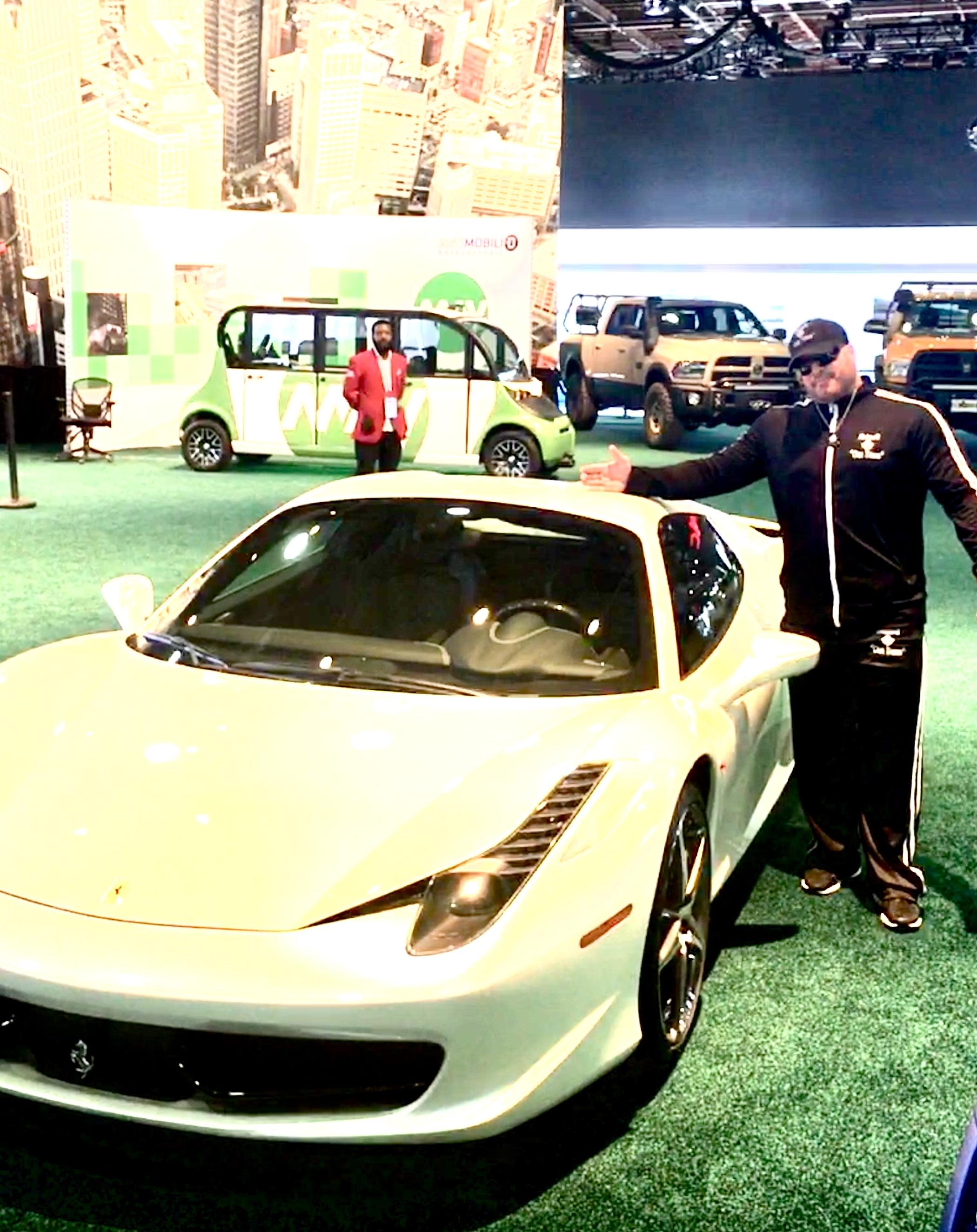 Gunner with a Ferrari