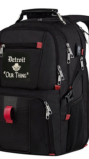 #EM0011 EMBROIDERED TRAVEL LAPTOP BACKPACK
