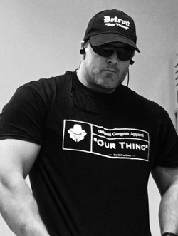 Gunner the owner of OUR THING Apparel