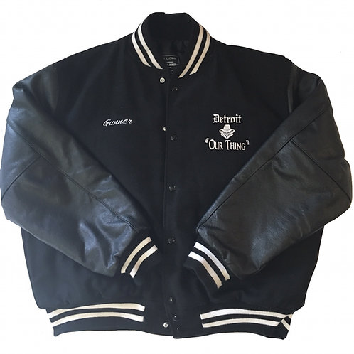 #EM0005 EMBROIDERED OLD SCHOOL VARSITY JACKET