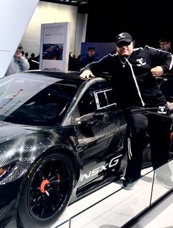 Gunner with a Honda NSX Supercar