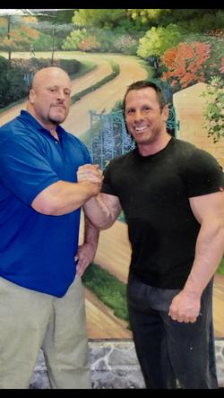 Gunner with his cousin Joe Rubino prison visit