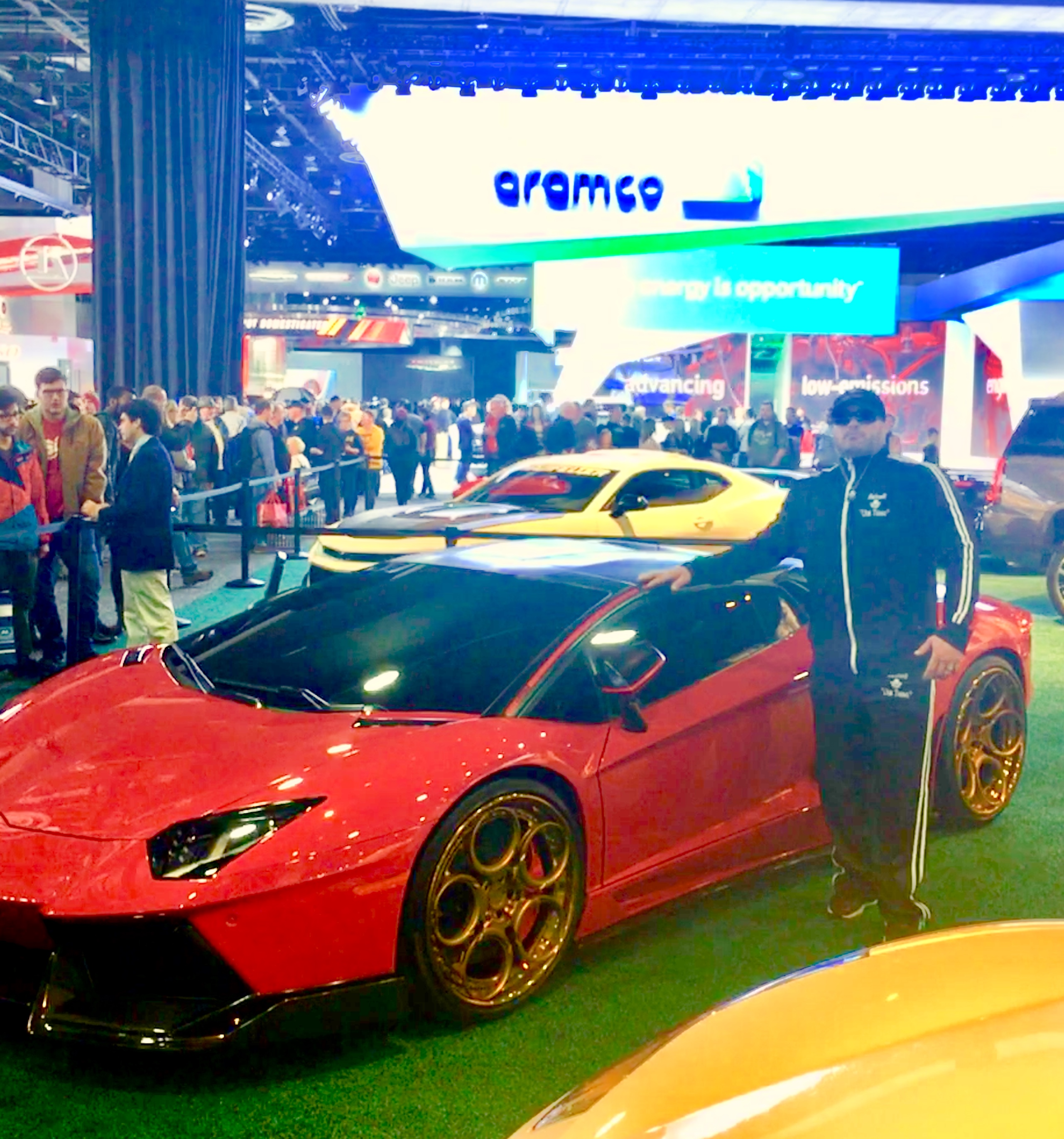 Gunner with a Lamborghini Gallardo
