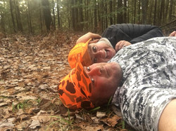 Gunner in the outdoors with his wife Maria