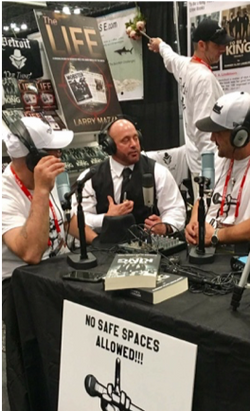 Gunner getting interviewed by Chris Chiarmonte