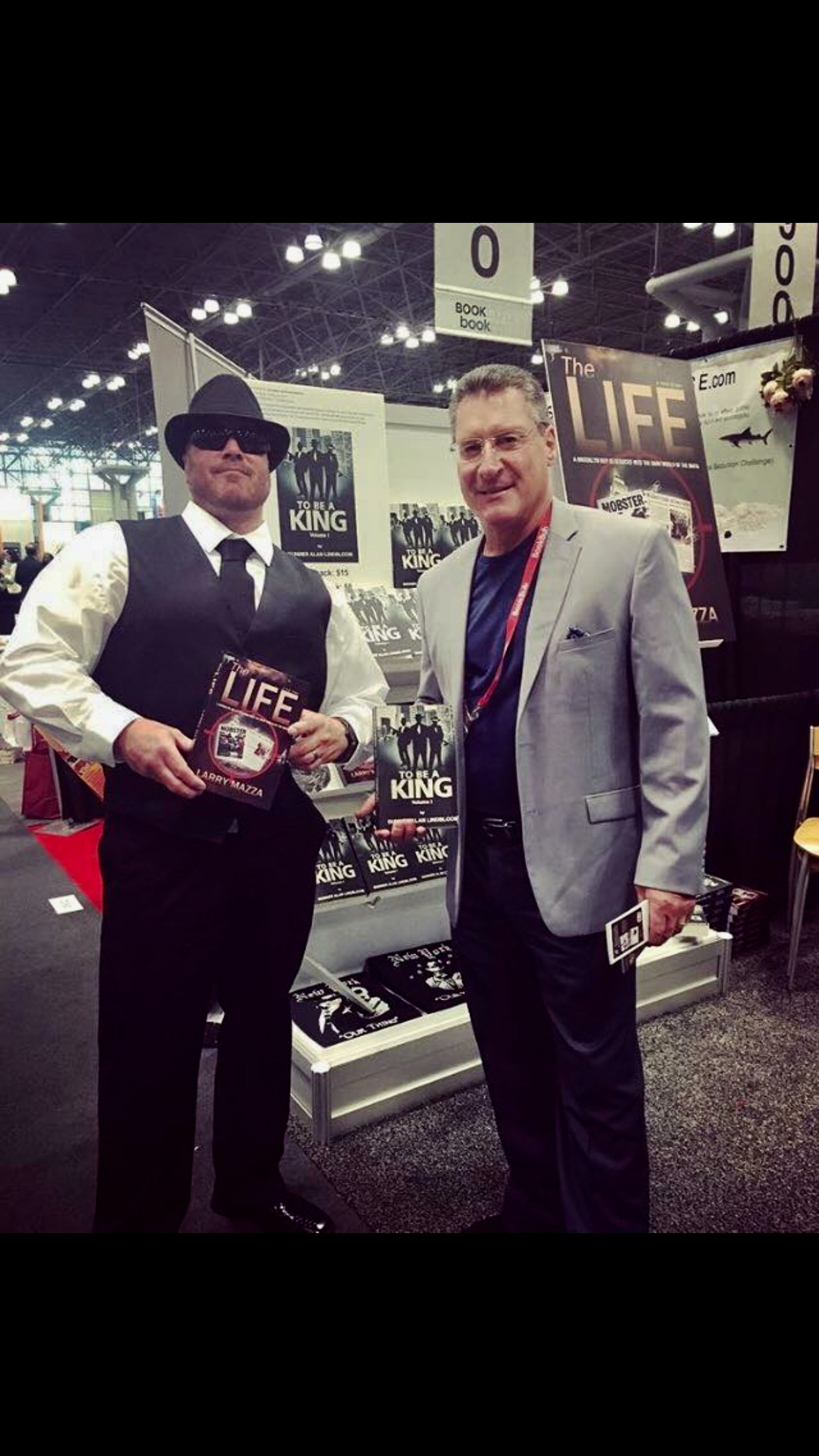 Gunner with former New York mobster Larry Mazza